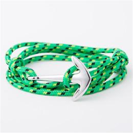 StyliSh men bracelet online shopping - Fashion Stylish Vintage Charm Bracelets Bangles For Men Women Hot Handmade Rope Bangle Silver Plated Anchor Bracelet