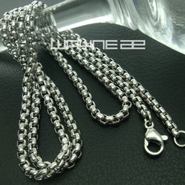 Mexican Link Chain NZ - Gold and Silver tone 50cm Length 3.8mm 2.5mm Thick ring link chain Necklace N238 9 40 41