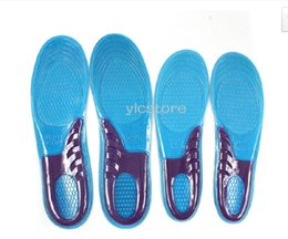 free insoles Canada - Free shipping 200pcs=100pairs sport silicone massaging gel shoes insole men size 8-12,women:6-10