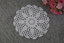 $enCountryForm.capitalKeyWord UK - DIY Design Wedding Handmade Crochet Coasters Doily Placemats Crocheted Doilies Size 6 inches 30 PCS  LOT Custom Color _DSC0101