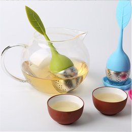 tea filler 2019 - Tea Strainer Filler Ball Silicon Tea Infuser Leaf Silicone Infuser With Food Grade Make Tea Bag Filter Creative Stainles