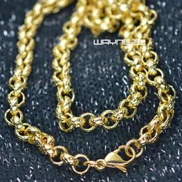 $enCountryForm.capitalKeyWord Canada - n308-Gold tone 50cm,60cm,70cm Length Men Women Solid ring link Necklace Chain
