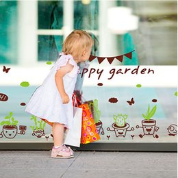$enCountryForm.capitalKeyWord Canada - Cute Cartoon Plant Pot Wall Art Mural Decal Sticker Home Art Decoration Wallpaper Poster Happy Day Wall Quote Decal Decor