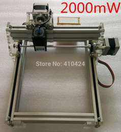 Blue Laser Machine Canada - New Arrival 500mw 2000mw Blue Laser Engraving Machine Mini DIY Laser Engraver IC Marking Printer Carving Size 17*20CM