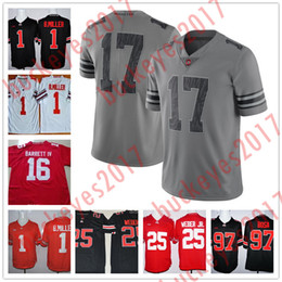 a2c852812 2017 Gray Ohio State Buckey Jersey 14 Hill 83 Terry McLaurin 1 Johnnie  Dixon 9 Binjimen Victor 83 Terry McLaurin College Football Stitched