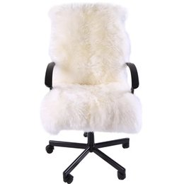 $enCountryForm.capitalKeyWord UK - Special for winter whole sheep fur chair cover cushion 1.3P 60*130cm sheepskin rug for rocking chair cushion , sheep fur recliner mat
