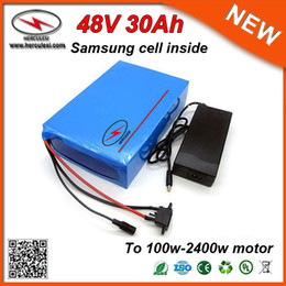 $enCountryForm.capitalKeyWord Canada - Low Self Discharge Current 2400W 48V Scooter Battery 48V Lithium Ion Battery Packs 48V 30Ah Battery Samsung used in 13S10P Cells