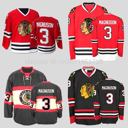 2017 Chicago Blackhawks Ice Hockey Jerseys Keith Magnuson Home Red CCM  Vintage Stitched Turn Back Jerseys Size S~XXXL Free Shipping For Sale cc667a22079