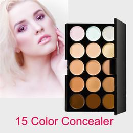Livraison gratuite Professional maquiagem 15 Couleur Concealers Maquillage Crème Soins Camouflage Paletas Contour Palette Cosmétique Haute Qualité en Solde