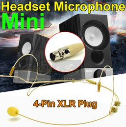 ear connector NZ - Free Shipping Skin Color Mini XLR TA4F 4 Pin Connector Plug Headworn Headset Microphone Ear Hook For Wireless BodyPack Transmitter