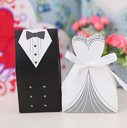 Bride Groom Favour Boxes Canada - Free Shipping+New Arrival bride and groom box wedding boxes favour boxes wedding favors,500pairs=1000pcs lot