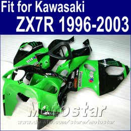 KawasaKi motorcycle fairing Kits zx7r online shopping - Motorcycle bodywork for Kawasaki ZX7R fairings green black Ninja ZX R fairing kit WT24