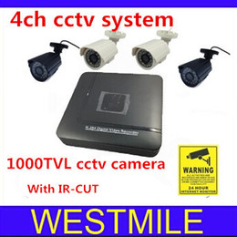 Dvr Recorder For Cctv Canada - 1000tvl 3.6mm cctv camera and a D1 DVR Recorder for Security System 4ch dvr kit free shipping