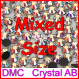 Cristales Hot Fix Ss6 Baratos-Al por mayor-ES6 SS10 SS16 SS20 SS30 barato Mejor Blanca DMC Cristal AB Borrar Hot Fix Piedras Strass Hotfix Flatback Loose Rhinestones