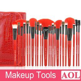 $enCountryForm.capitalKeyWord Canada - New Arrival! Red Makeup Brushes Set & Kits 24 pcs Makeup Brushes Professional Makeup Tools Brand Cosmetics Facial Brushes