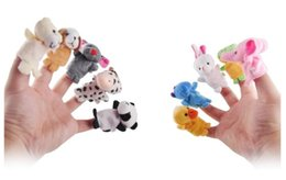 $enCountryForm.capitalKeyWord NZ - 10pcs set Soft Baby Plush Doll Toy Hand Finger Puppets Talking Props Helpers 10 Animal Group Play Game Mom Kids Dolls Family Toys Kids Gifts