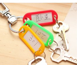 Discount room number plate Creative writing can buckle color classification key mark your room number plate key ring plastic key card tag