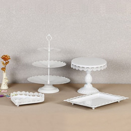 cupcake display stands Canada - Metal Iron Cupcake Display Rack Resuable Without Crystal Dessert Cake Stand For Wedding Birthday Party Decorations Holder Fashion 95ds BB