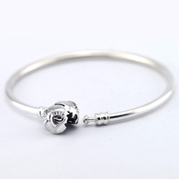 $enCountryForm.capitalKeyWord Canada - Certificated 100% 925 Sterling Silver Bangles Fashion Bracelet Compatible With Pandora Jewelry Clear with CZ for Women Free Shipping