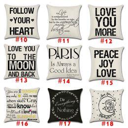 18styles INS Pillow Case Home Decorative Modern Simple Geometry Print Linen  Pillow Cover Textile Living Square 45x45cm