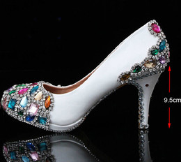 $enCountryForm.capitalKeyWord Canada - New Arrival Handmade Wedding Popular White Bridal High Heel Dress Shoes Crystal Women's Shoes Mother of the Bride Shoes