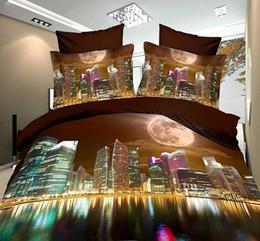 Al por mayor - pintura en 3D de lujo rojo juego de cama de flores reina rey tamaño 100% algodón 4 unids edredón / edredón cubre sábanas ropa de cama conjunto en venta