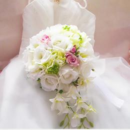 2018 ramos de novia mariage Bouquet unique décoration de mariage Haute Qualité mariage Mode Artficial fleurs bouquet de mariée en Solde