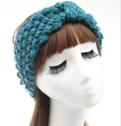 China Womens Ladies Winter Warm Crochet Knitting Wool Headbands Head Wrap Beanies hair accessories headwear Turban Bandanas Hats WHA16 cheap ladies winter beanies suppliers