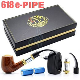 $enCountryForm.capitalKeyWord NZ - Pipe 618 E-pipe e electronic cigarette ego starter kit Luxury smoking 2.5ml atomizer 628 Clearomizer dual 18350 Battery gift box vapor DHL