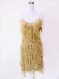 Sequin Latin Pas Cher-Gros-HOT 1920 VENTE FLAPPER FRINGE GOLD GREAT GATSBY CHARLESTON SEQUIN PARTY LATINE ROBE PETITS