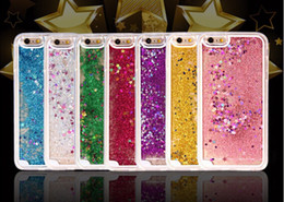 Crystal Clear Phone Cases NZ - Crystal Clear phone Back Cover Hot Dynamic Liquid Glitter Sand Quicksand Star Case For iphone 6 6s 6s Plus Shell 100pcs up