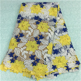 $enCountryForm.capitalKeyWord Canada - Wonderful french guipure lace with three color flower embroidery african water soluble lace fabric for party dress BW10-20