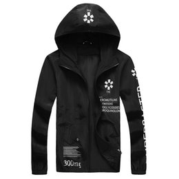 veste sport UK - Fall-Fashion Mens Thin Jackets Letter Printing Sport Hooded Jackets and Coats Men Plue Size M-5XL veste homme