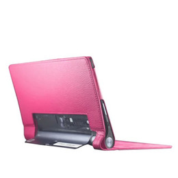 Discount lenovo folio - 30pcs Two Folding PU Leather Case Stand Cover for Lenovo Yoga Tab 3 850F YT3-850F Tablet Case