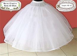 En stock Robe de bal pas cher jupon pour robes de mariée Accessoire de mariage Jupon (taille: 65-85cm longueur: 105cm) Sous-vêtement Vente chaude
