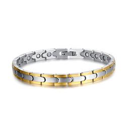 silver bracelets men designs 2019 - New Design Popular high-grade Trendy XMAS' gift 26g energy health magnetic pure Tungsten steel 7mm men women Bracel