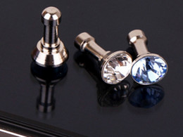 accessories for iphone plug NZ - Hot sale diamond Dust Plug For HTC For Samsung Galaxy s6 For iphone 6 plus 5s 4S 5 6 dust plug 3.5mm earphones phone accessories