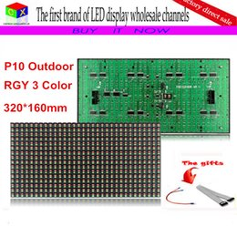 Semi outdoor led diSplay online shopping - P10 X32dot semi outdoor LED Display Module in Tri color LED display double color sign panel for P10 indoor led display