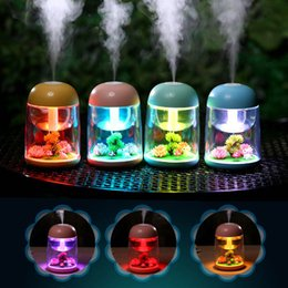 $enCountryForm.capitalKeyWord NZ - New Arrival 180ml Micro Landscape Humidifier Night Light Ultrasonic USB Humidifiers Mist Maker Mini Air Purifier Office Decorations