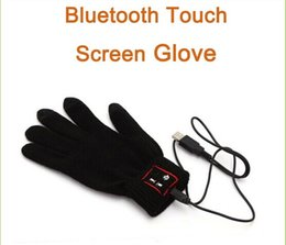 touch capacitive gloves Canada - Hi Call Smartphone Wireless touch Glove Bluetooth Loudspeaker Gloves Touch Screen without retail box cable black