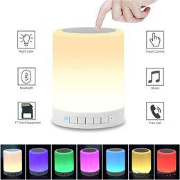 Led Night Lights Smart Control Portable Tumbler Baby Led Adult Wireless Multi-color Music Children Bluetooth Speaker Night Light Bedside Lamp Led Lamps