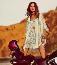 S5Q Mini Dress Vintage Boho Hippie Top corto con motivo floreale in pizzo  all uncinetto da donna AAADSY eeac90ce388