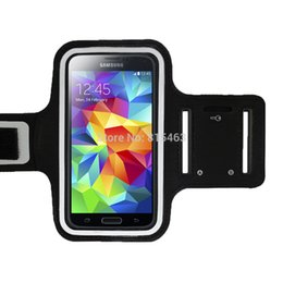 Wholesale New Running Sports Armband s5 Case Soft Belt Bag Pouch Mobile Phone Cover For Samsung Galaxy S5 SV i9600 note bag