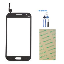 I8552 Touch Screen UK - Wholesale-Black Or White Touch Screen Digitizer For Samsung Galaxy Win i8552 GT-i8552 Front glass Touchscreen Replacement + Tools&Tape