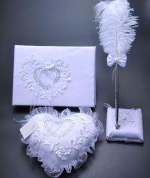 3Pcs / set della tela da imballaggio della tela di iuta della tela da imballaggio della tela da imballaggio del set di nozze della collana del cuscino del gattino dell'annata
