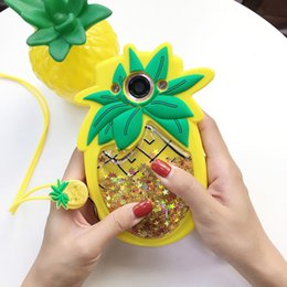 3d Phones Case Cover Canada - Fashion Liquid Quicksand Cellphone Case for iPhone 6 6S 7 8 Plus 3D Star Sequin Pineapple Soft Silicone Phone Cases Cover opp