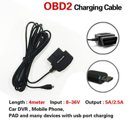 Low voLtage cabLe online shopping - Car Driving Recorder OBD Down The Line OBD OBD Line Charger Parking Monitor Intelligent Low Voltage Protection Adapter Charging Cable