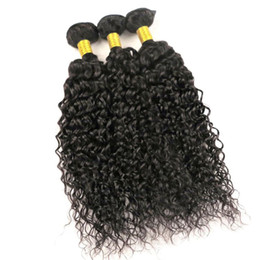 length 28 inch brazilian hair UK - Virgin Human Hair Weaves Brazilian Hair Wefts Jerry Curly Bundles 8-34inch Unprocessed Peruvian Indian Mongolian Virgin Hair Extensions Bulk
