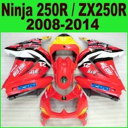 Red White Kawasaki Canada - Injection molding freeship fairings set for kawasaki Ninja 250R 08-14 EX250 black red white new fairing kit ZX250R 2008-2014 motobike Ft76