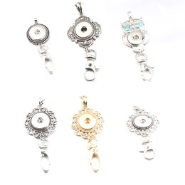 star snap buttons jewelry 2019 - 6 Styles Noosa Snap Button Keychain Crystal Flower Owl Charms Key Rings Metal Keychain Bag Pendant Fit 18MM Button Snap